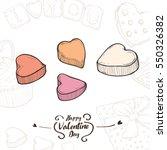 illustration of valentine... | Shutterstock .eps vector #550326382