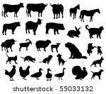 farm animals | Shutterstock .eps vector #55033132