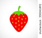 vector strawberry illustration | Shutterstock .eps vector #550341892