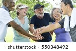 group of senior retirement... | Shutterstock . vector #550348492