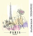 paris illustration. vector... | Shutterstock .eps vector #550349032