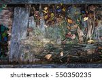 old dirty wooden background... | Shutterstock . vector #550350235