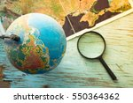 globe with geographical maps | Shutterstock . vector #550364362