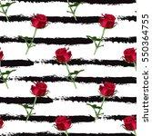 elegant seamless pattern with... | Shutterstock .eps vector #550364755