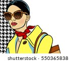 yellow background with image... | Shutterstock .eps vector #550365838
