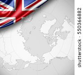 united kingdom flag of silk...   Shutterstock . vector #550366882