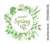 happy spring green card design... | Shutterstock .eps vector #550368136