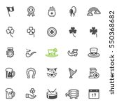 Saint Patrick's Day Icons With...