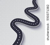 winding road isolated... | Shutterstock .eps vector #550371382