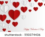 happy valentines day card.... | Shutterstock . vector #550374436