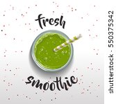 spinach smoothie. fresh... | Shutterstock .eps vector #550375342