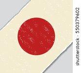 japanese grunge flag diagonal... | Shutterstock . vector #550379602