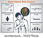 heart attack risk factors... | Shutterstock .eps vector #550379626