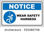wear safety harness sign | Shutterstock .eps vector #550380748