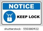 keep locked sign. information... | Shutterstock .eps vector #550380922