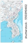 korean peninsula map physical... | Shutterstock .eps vector #550390402
