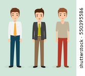 business man character. people... | Shutterstock .eps vector #550395586