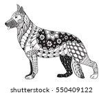 german shepherd dog head... | Shutterstock .eps vector #550409122