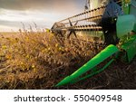harvesting of soybean field... | Shutterstock . vector #550409548