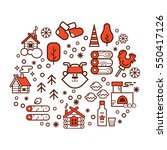 vector cartoon illustration of... | Shutterstock .eps vector #550417126