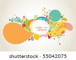 colorful background shapes | Shutterstock .eps vector #55042075