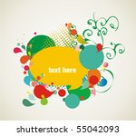 colorful background elements | Shutterstock .eps vector #55042093