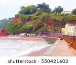 dawlish  devon  uk. june 14 ... | Shutterstock . vector #550421602