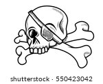 illustration with bones and a... | Shutterstock .eps vector #550423042