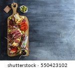typical spanish tapas concept.... | Shutterstock . vector #550423102