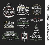 great collection of christmas... | Shutterstock .eps vector #550424602