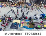 blurred migrant people in the... | Shutterstock . vector #550430668