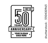 50th anniversary logo. vector... | Shutterstock .eps vector #550430965