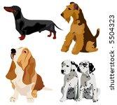 Stock vector dogs vector 5504323
