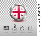 circle flag of georgia in... | Shutterstock .eps vector #550435822