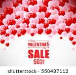 valentines sale banner with... | Shutterstock .eps vector #550437112