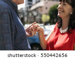 mature people romantic holding... | Shutterstock . vector #550442656