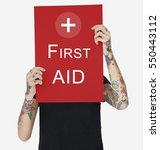 Small photo of Cross First Aid Paramedic Medication Accidental Emergency Concept
