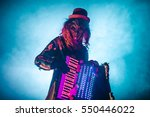 venetian masquerade accordion... | Shutterstock . vector #550446022