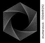 hexagon logo  geometric...   Shutterstock . vector #550449292