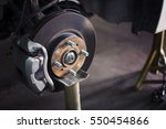 car brake disc without wheels... | Shutterstock . vector #550454866