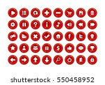 red game button templates. pack ... | Shutterstock .eps vector #550458952