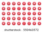 red game button templates. pack ... | Shutterstock .eps vector #550463572
