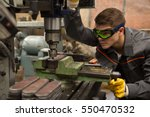 cutting work pieces. portrait... | Shutterstock . vector #550470532