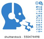 operator shout pictograph with... | Shutterstock .eps vector #550474498