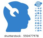 head surgery wrench pictograph... | Shutterstock .eps vector #550477978