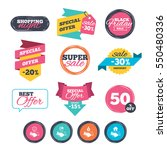 sale stickers  online shopping. ... | Shutterstock . vector #550480336