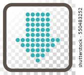 dotted arrow down grey and cyan ... | Shutterstock .eps vector #550483252