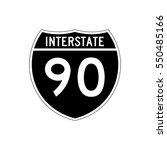 interstate highway 90 road sign ... | Shutterstock .eps vector #550485166