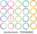 text blobs from circles shapes  ... | Shutterstock .eps vector #550486882