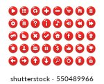 red game button templates. pack ... | Shutterstock .eps vector #550489966
